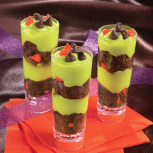 Freaky Halloween Cake & Pudding Parfaits