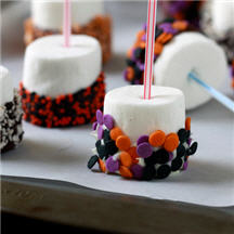 Halloween Dipped Marshmallow Pops