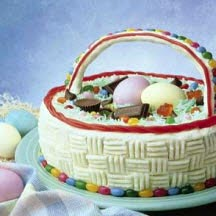 Mounds Coconut Easter Basket Cake