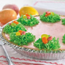 Strawberry Mousse Easter Pie