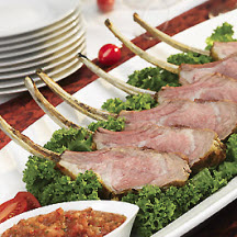 American Lamb Lollipops with Festive Sauces