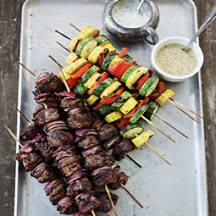 Grilled Lamb and Vegetable Kabobs
