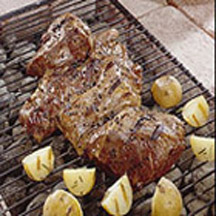 Grilled Marinated Butterflied California Leg of Lamb