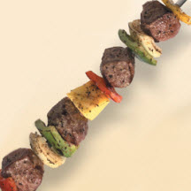 Lamb Kabobs with Mustard Lemon Pepper Sauce
