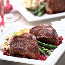 Lamb Loin Chops with Madeira and Cherries