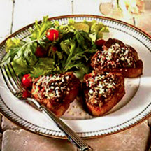 Parmesan and Olive Crusted Lamb Chops