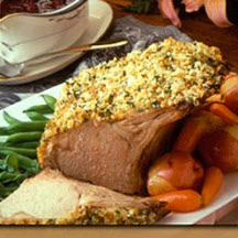 Veal Roast with Cranberry Port Sauce