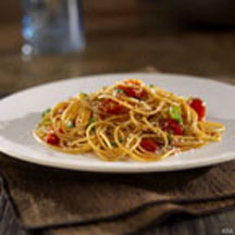 Barilla Whole Grain Spaghetti with Cherry Tomatoes and Basil