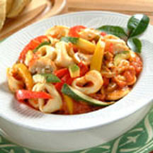 Cheese Tortellini with Garden Vegetables