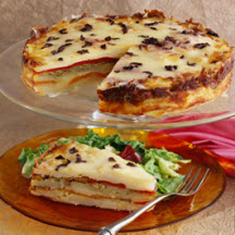 Deep Dish Potato Torta with Peppers and Olives