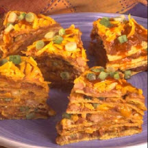 Chile and Cheese Enchilada Stack