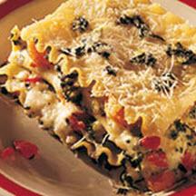 Four Cheese Vegetable Lasagna Recipe at CooksRecipes.com