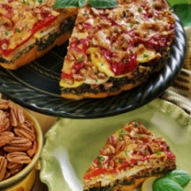 Georgia Pecan Vegetable Torte with Cheddar