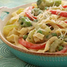 Italian Vegetable Creamy Fettuccine