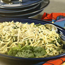 Linguine and Spinach