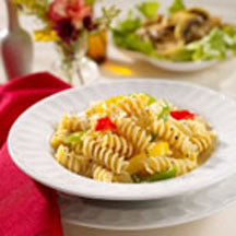 Rotini with Fresh Bell Peppers