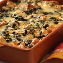 Spinach and Cheese Overnight Strata
