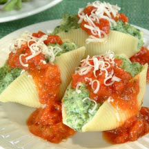 Spinach Soufflé Stuffed Shells