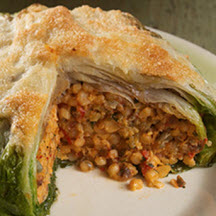 Stuffed Escarole with Fregola and GranQueso® Cheese