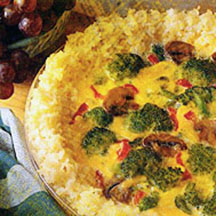 Vegetable Rice Quiche