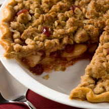Apple Cranberry Streusel Pie