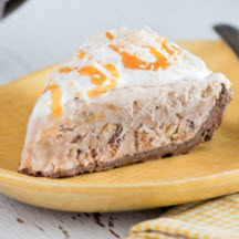 Caramel Coconut Cookie Ice Cream Pie