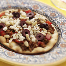 Crackerbread Crust Middle East Pizza with Feta