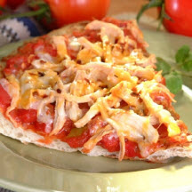 Speedy Smoked Chicken Mexican Pizza