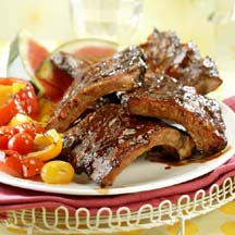 BBQ Baby Back Ribs with Spicy Dry Rub & Mop Sauce