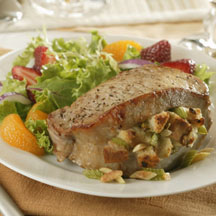 Almond-Stuffed Pork Chops