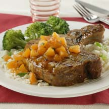 Apricot-Glazed Pork Loin Chops