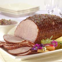 Baked Ham with Sweet 'N Sour Plum Sauce