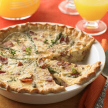 Ham, Bacon and Caramelized Onion Tart