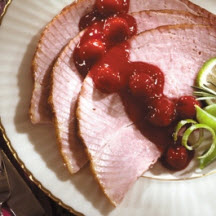 Ham with Gingered Cherry Sauce
