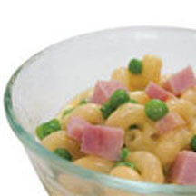 Mac 'N Cheese with Ham and Peas