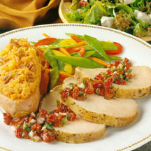 Peppered Pork Roast with Cherry Salsa