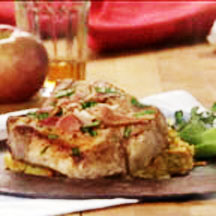 Pork Chops with Sweet Potatoes and Apples Recipe at CooksRecipes.com