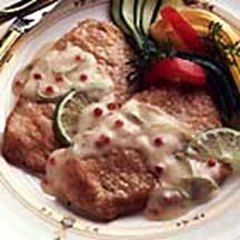 Pork Scaloppine in Lime Sauce