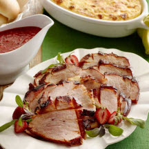 Smoky Ham with Strawberry-Chipotle Sauce
