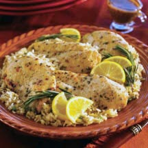 Rosemary Chicken with Mediterranean Brown Rice