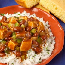 Cajun Style Red Beans and Rice with Turkey