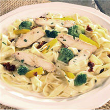 Chicken and Fettuccine with Sun-Dried Tomatoes