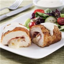 Chicken Cordon Bleu with Creamy Mustard Sauce