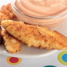 Chicken Strips with Creamy Red Dip