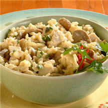 Creamy Poblano Rice with Chicken
