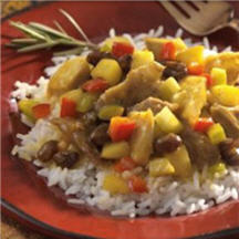 Curried Turkey with Jasmine Rice