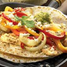 Festive Chicken Fajitas with Queso Blanco