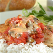 Fiesta Chicken with Tomatoes and Mushrooms