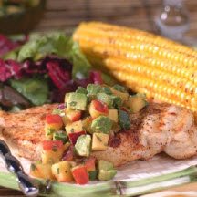 Grilled Chicken with Nectarine Guacamole