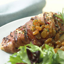 Grilled Limoncello Chicken with California Raisins